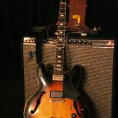 The amp and guitar at the 2009 Harmonica Summit!