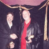 Michael Osborn and Bill Rhoades picking up Muddy Awards at the CBA Muddy Awards, circa 2005!