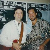 Michael Osborn and Steve Cropper in Den Haag - circa 1991